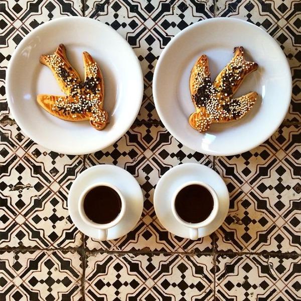 美味しさ2倍!毎日シンメトリーな朝食写真シリーズ (13)