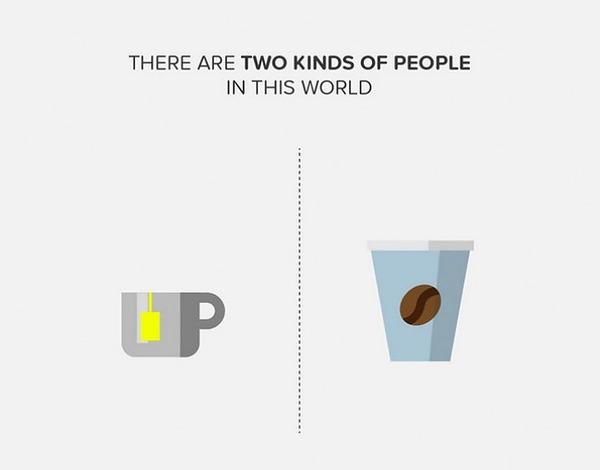 二種類の人間。シンプルなカラーイラストで表現 (4)