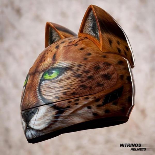 猫ヘルメットがクール!ネコ耳!二輪用フルフェイスヘルメット (8)
