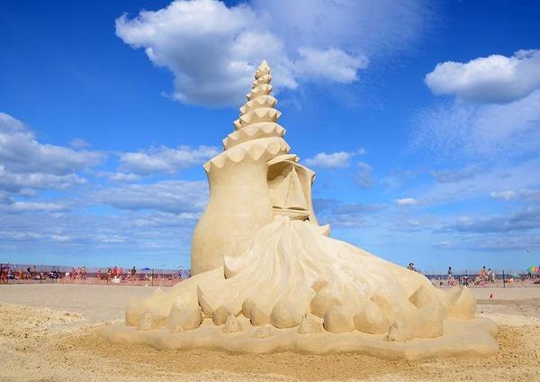 砂の彫刻コンテスト ハンプトン・ビーチ (5)