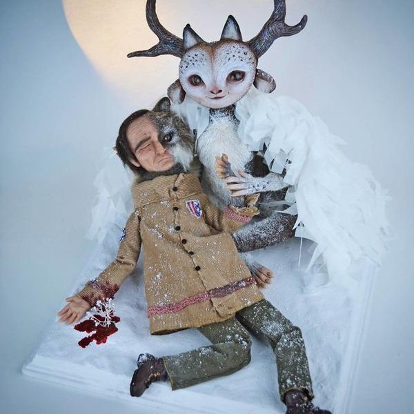 キモカワ!?ポリマークレイ製の手作りクリーチャー人形 (9)