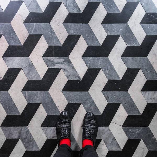 色んな床いっぱい。イタリア、ヴェネツィアの床のデザイン (5)