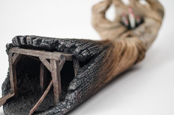 木材の彫刻に見えるセラミック彫刻 (11)