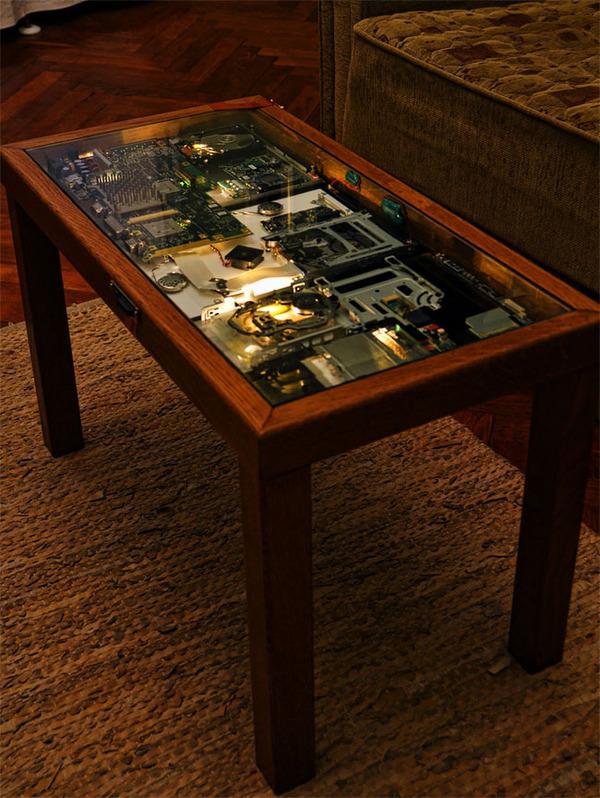 スチームパンクっていいよね。真鍮、銅、金属部品で作る家具 (13)