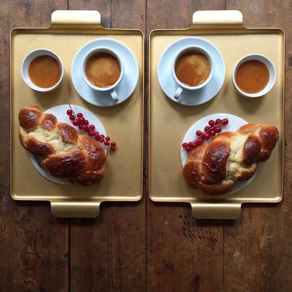 美味しさ2倍!毎日シンメトリーな朝食写真シリーズ (7)