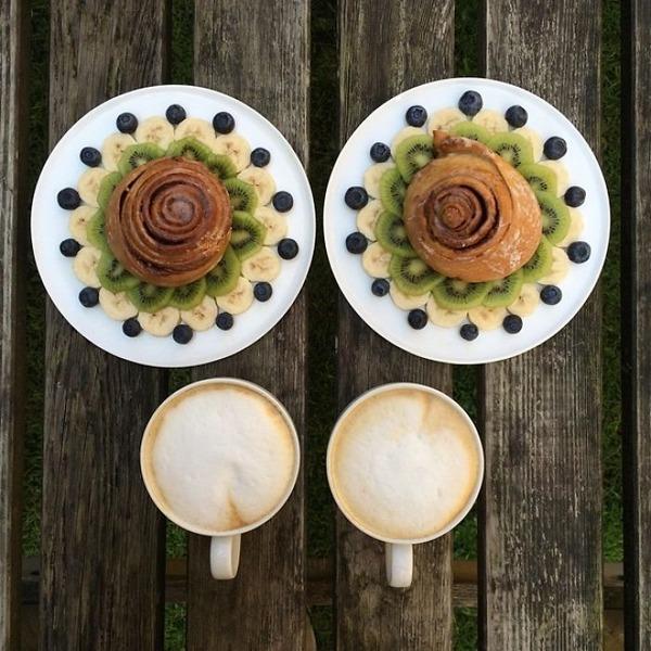 美味しさ2倍!毎日シンメトリーな朝食写真シリーズ (53)