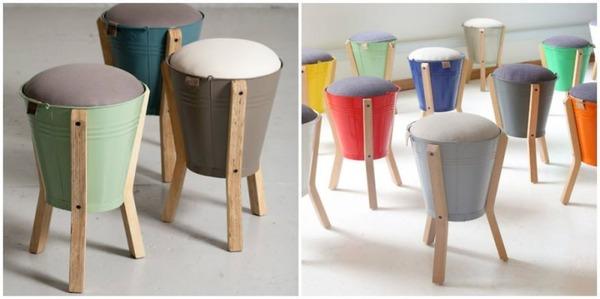 9 バケツで作る背もたれのない椅子