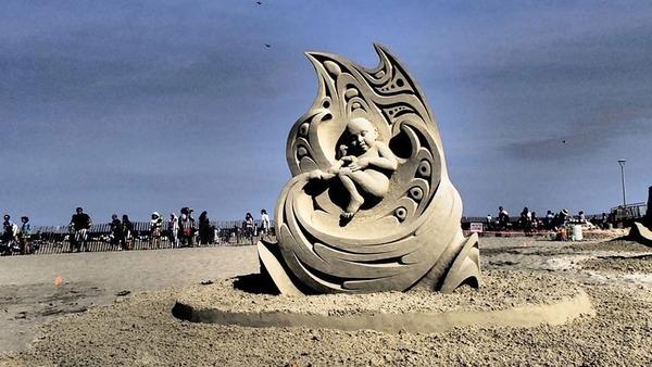 砂の彫刻コンテスト ハンプトン・ビーチ (17)