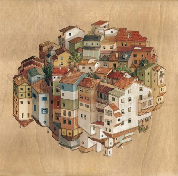 チンダビダルの錯視的絵画アート Cinta Vidalby 7