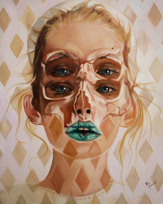 ダブルビジョンの錯視絵画アート  アレックス・ガーランド 12
