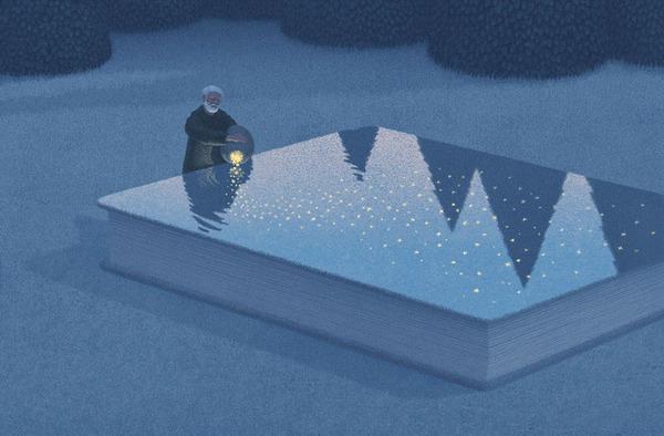 色んな本の形。本をモチーフにしたイラスト (4)