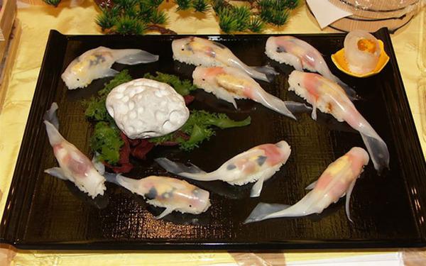 コイ寿司!自宅でも簡単に作れる鯉の形をしたお寿司 (10)