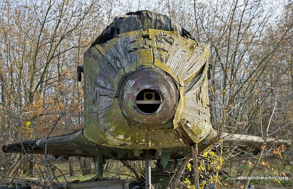 ロシアの飛行場に放棄された木で作られた宇宙船! (5)