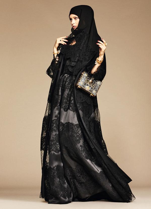 ヒジャブとアバヤのモダンファッション by ドルチェ&ガッバーナ (6)