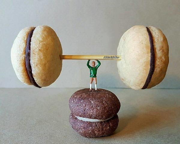 美味しそうな洋菓子で作るミニチュアアート (12)