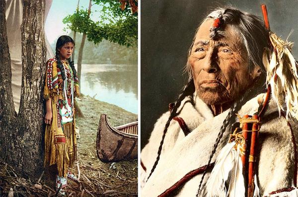 インディアン(ネイティブ・アメリカン)の貴重なカラー化写真 (26)