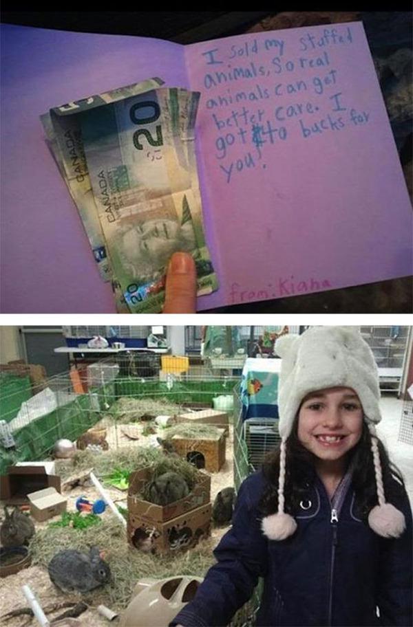 #10 動物のぬいぐるみを売ったお金で寄付をする少女