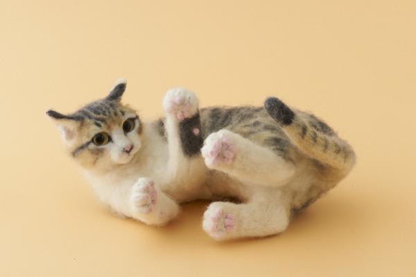 羊毛フェルトのリアル猫人形12