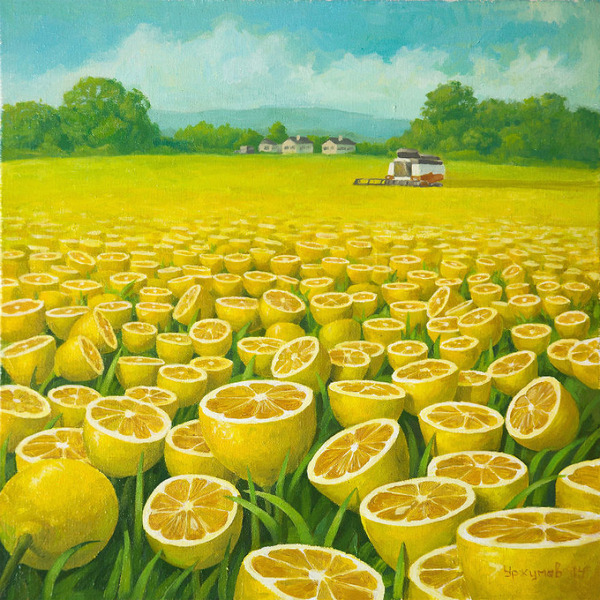 レモンが大好き!ひたすらレモンに満ち溢れる世界を描いた画家 (2)
