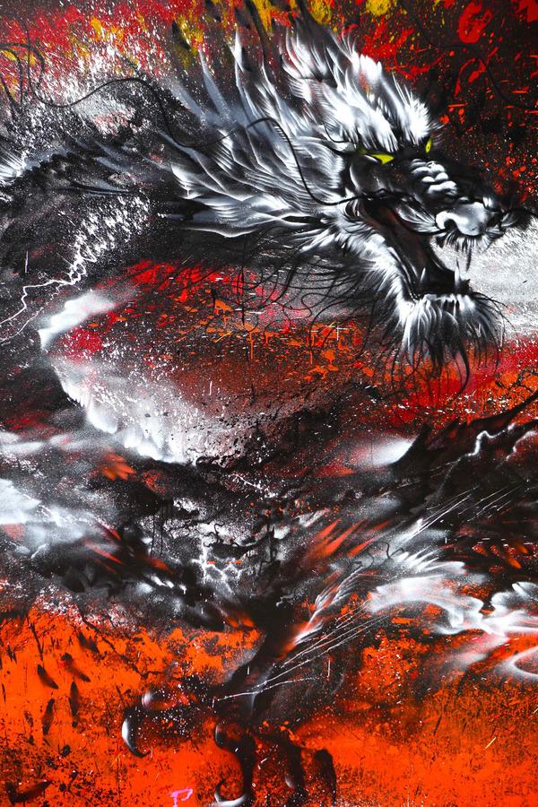 龍の壁画 7