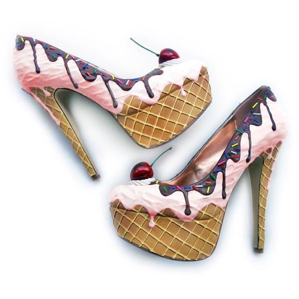 ケーキやアイスクリームみたいなスウィーツなレディース靴 (1)