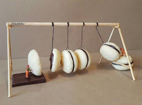 美味しそうな洋菓子で作るミニチュアアート (10)