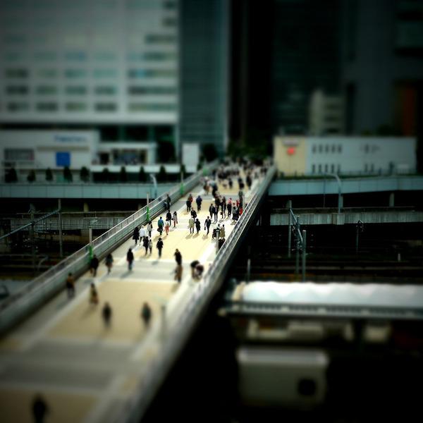 ミニチュアジオラマ風の東京の写真!チルトシフト (9)