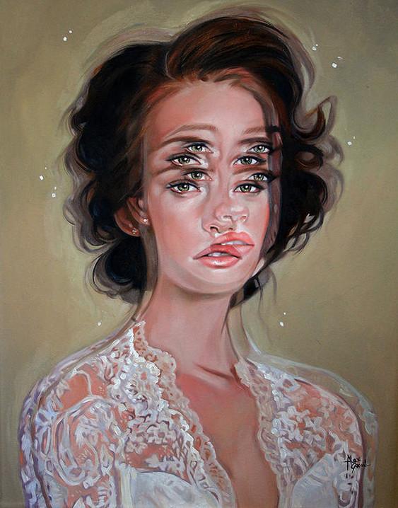 ダブルビジョンの錯視絵画アート  アレックス・ガーランド 7