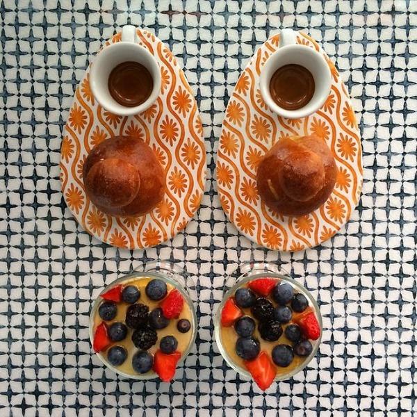 美味しさ2倍!毎日シンメトリーな朝食写真シリーズ (16)