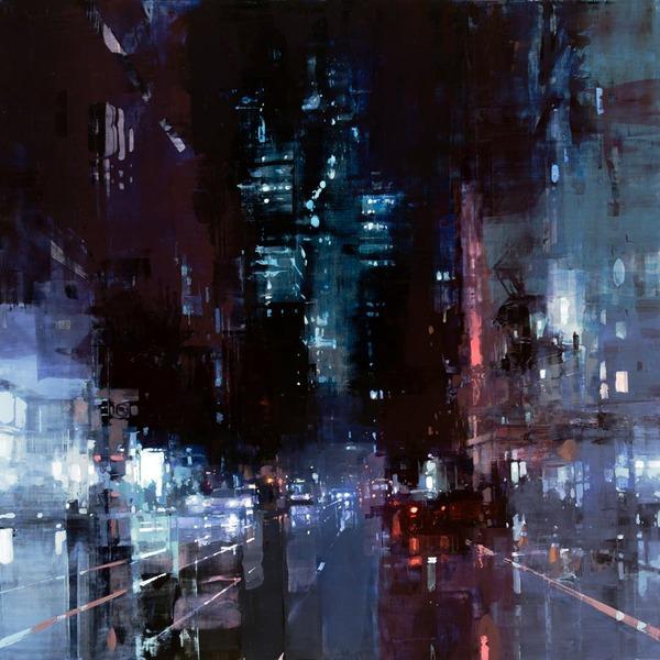 ぼんやり美しい。朧げに描かれる都市景観の油絵作品 (8)