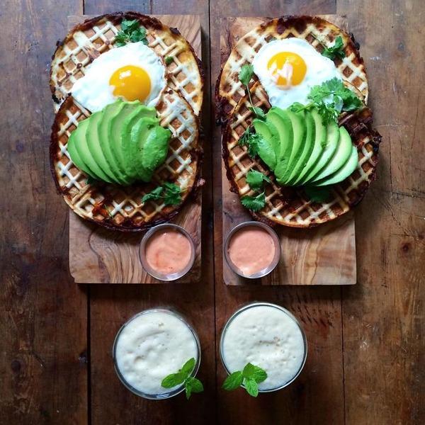 美味しさ2倍!毎日シンメトリーな朝食写真シリーズ (18)