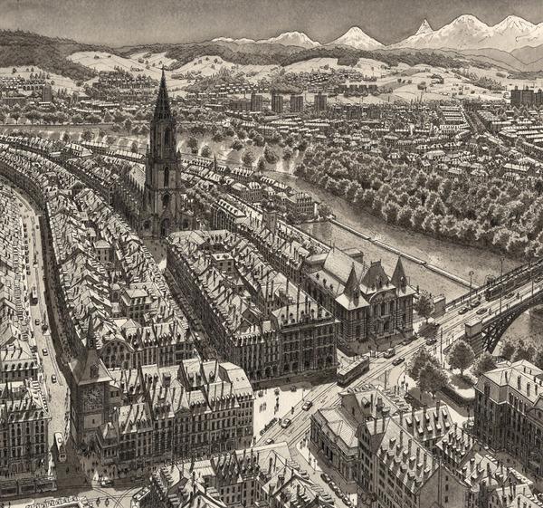 超精密!記憶を頼りに世界の都市景観を描くモノクロ絵画 (9)