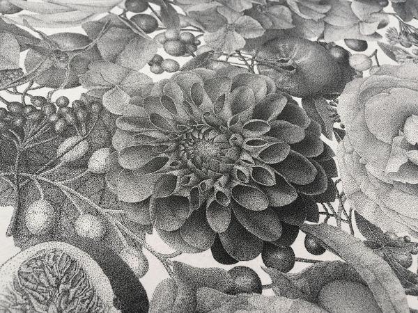 700万の点で描く!370時間をかけて制作された絵画『Autumn』 (3)