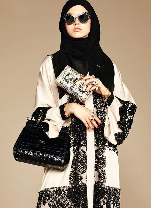 ヒジャブとアバヤのモダンファッション by ドルチェ&ガッバーナ (4)