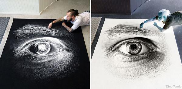 塩で描くアートがすごい!肖像画、曼荼羅模様、動物の絵など (7)