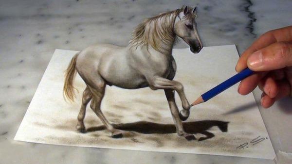 立体的すぎる!紙上に描かれた3Dドローイング【錯視】 (4)