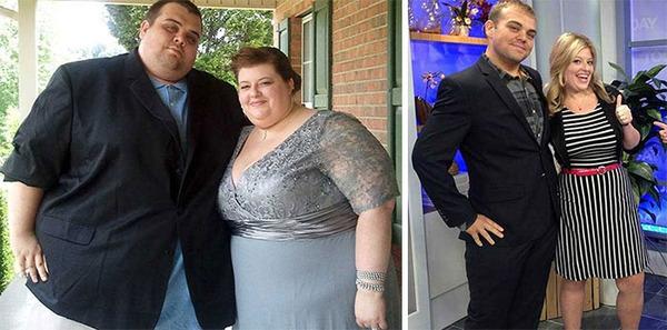 【比較画像】太ったカップルが痩せた (5)