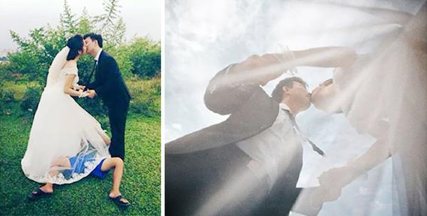 結婚写真の裏で頑張るカメラマンの努力画像 (1)