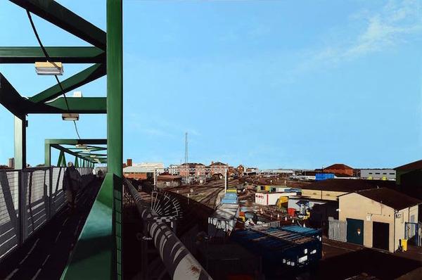 写真と見間違いそう!超精密でリアルな都市風景画 (2)