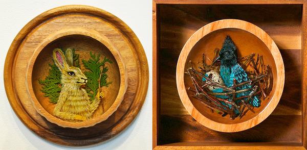 人間に進化したかのような森の動物アート Drew Mosley 8