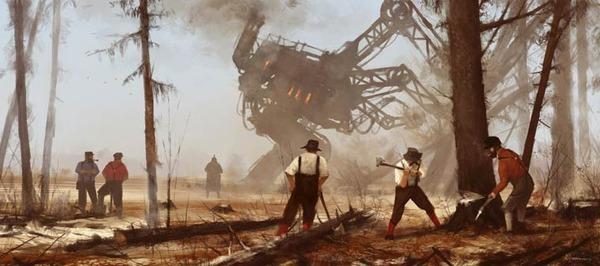 レトロな時代背景に機械的なSF要素。戦争を描いた空想世界 (6)