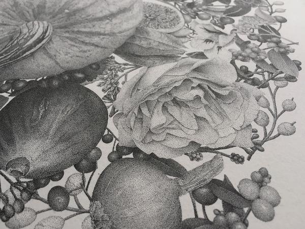 700万の点で描く!370時間をかけて制作された絵画『Autumn』 (4)