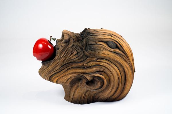 木材の彫刻に見えるセラミック彫刻 (25)