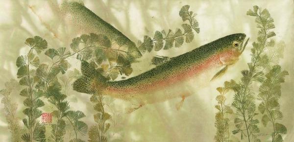 日本文化『魚拓』で描かれる海外アーティストによる絵画作品 (10)