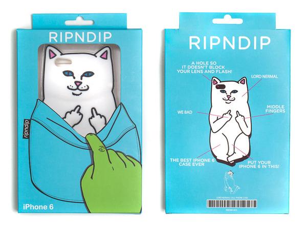 白いにゃんこが中指立ててる!挑発的な猫型スマホケース RIPNDIP (4)