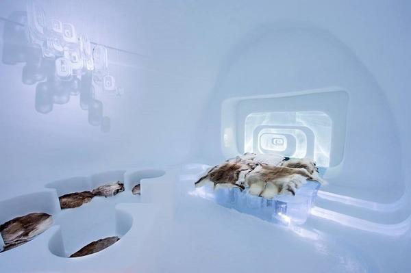 凍える寒さ!スウェーデンの氷の宿屋『アイスホテル』 (9)