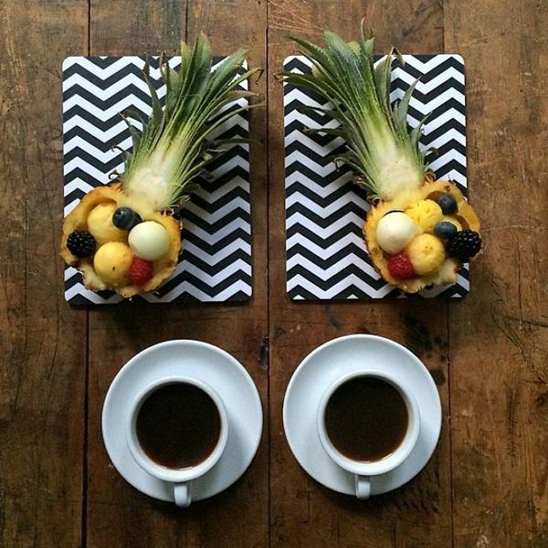 美味しさ2倍!毎日シンメトリーな朝食写真シリーズ (3)