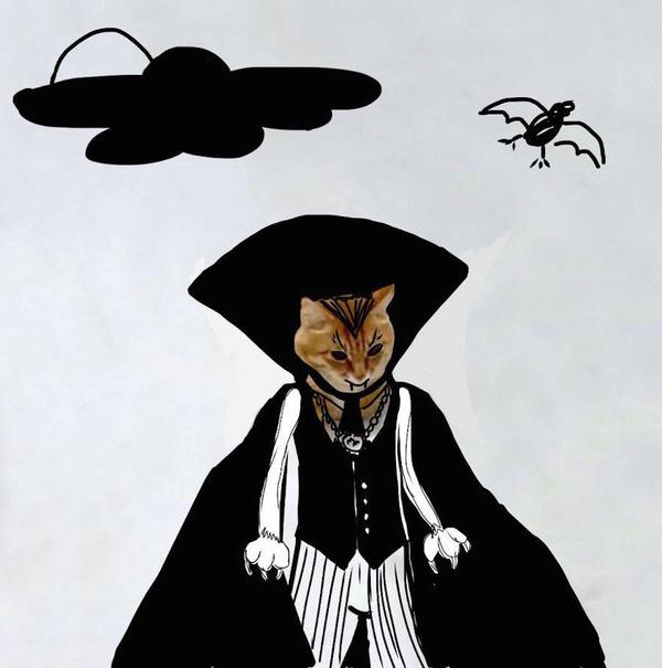 才能の無駄遣い?香箱座りの猫の画像にみんなで落書き! (14)