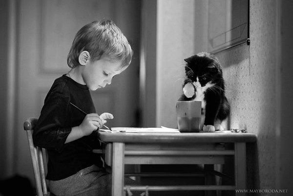ペットは大切な家族!犬や猫と人間の子供の画像 (81)