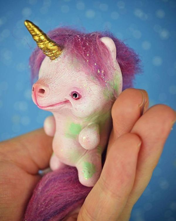 キモカワ!?ポリマークレイ製の手作りクリーチャー人形 (20)